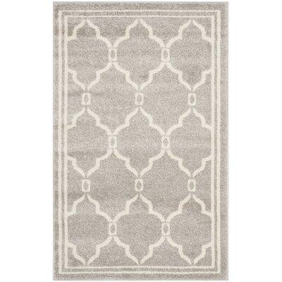 Currey Light Grey/Ivory Outdoor Area Rug Rug Size: 26 x 4
