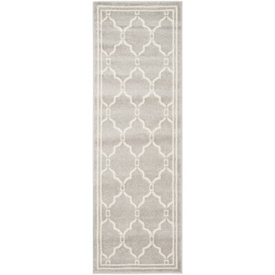 Maritza Light Gray/Ivory Indoor/Outdoor Area Rug Rug Size: Runner 23 x 21