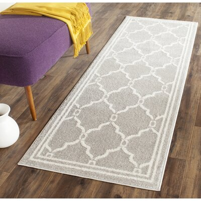 Currey Light Grey/Ivory Outdoor Area Rug Rug Size: Runner 23 x 7