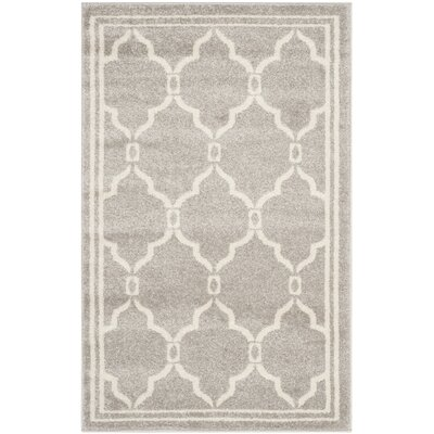 Maritza Light Grey/Ivory Outdoor Area Rug Rug Size: 3 x 5