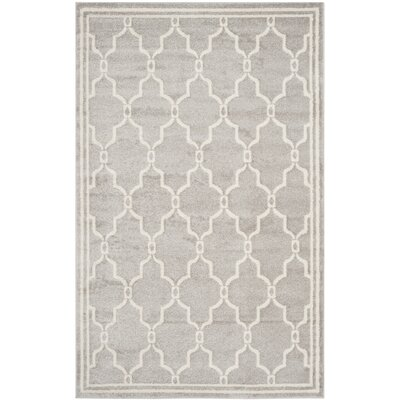 Maritza Light Grey/Ivory Outdoor Area Rug Rug Size: 5 x 8