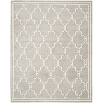 Maritza Light Grey/Ivory Outdoor Area Rug Rug Size: 10 x 14