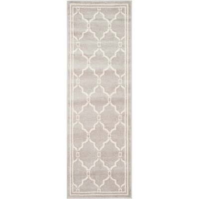 Maritza Light Gray/Ivory Indoor/Outdoor Area Rug Rug Size: Runner 23 x 9