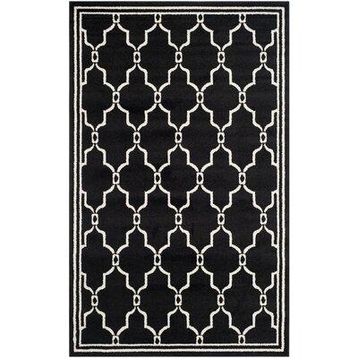 Maritza Geometric Anthracite/Ivory Outdoor Area Rug Rug Size: Rectangle 5 x 8