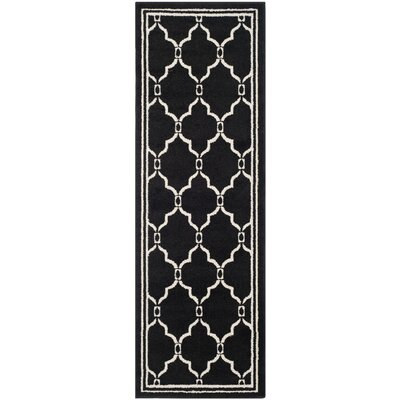 Currey Anthracite/Ivory Outdoor Area Rug Rug Size: Runner 23 x 7