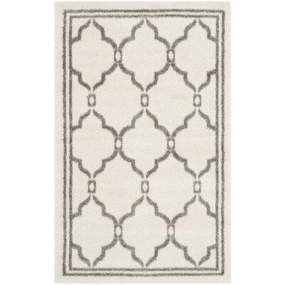 Currey Ivory/Grey Outdoor Area Rug Rug Size: 26 x 4