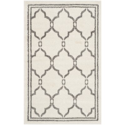Maritza Ivory/Grey Outdoor Area Rug Rug Size: 3 x 5