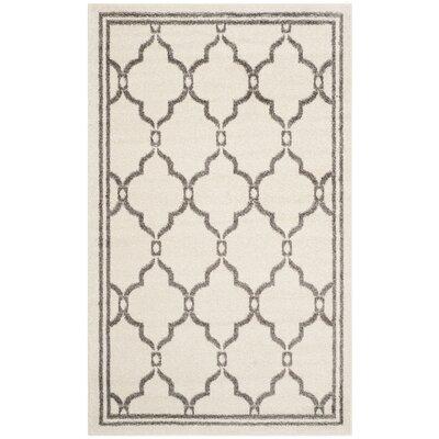 Maritza Ivory/Grey Outdoor Area Rug Rug Size: 4 x 6