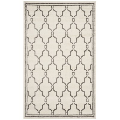 Maritza Ivory/Grey Outdoor Area Rug Rug Size: 5 x 8