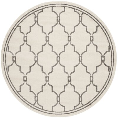 Maritza Ivory/Grey Outdoor Area Rug Rug Size: Rectangle 4 x 6