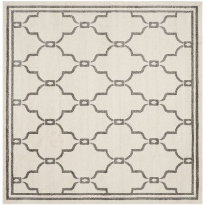 Maritza Ivory/Grey Outdoor Area Rug Rug Size: Square 7