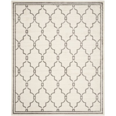 Maritza Ivory/Grey Outdoor Area Rug Rug Size: 10 x 14