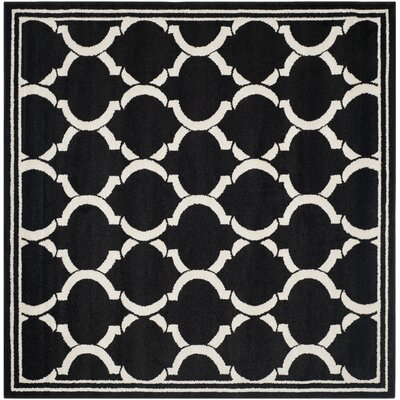 Maritza Anthracite/Ivory Outdoor Area Rug Rug Size: Square 7'