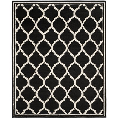 Maritza Anthracite/Ivory Outdoor Area Rug Rug Size: 8 x 10