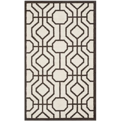 Currey Ivory/Brown Outdoor Area Rug Rug Size: Rectangle 3 x 5