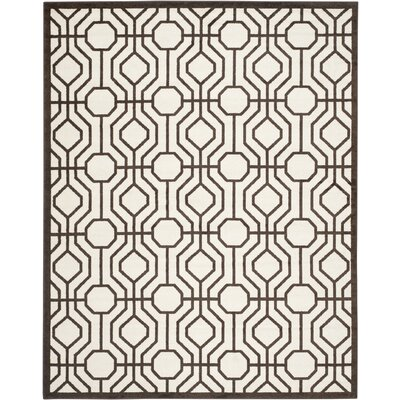 Currey Ivory/Brown Outdoor Area Rug Rug Size: Rectangle 8 x 10