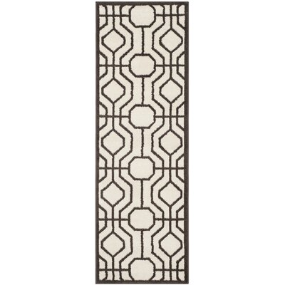 Currey Ivory/Brown Outdoor Area Rug Rug Size: Runner 23 x 7