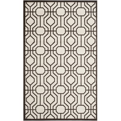 Currey Ivory/Brown Outdoor Area Rug Rug Size: 4 x 6