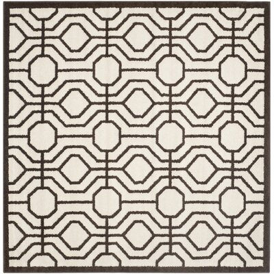 Currey Ivory/Brown Outdoor Area Rug Rug Size: Square 7