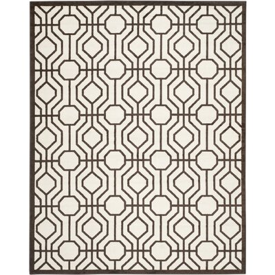 Currey Ivory/Brown Outdoor Area Rug Rug Size: Rectangle 9 x 12