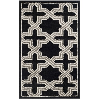 Maritza Anthracite/Grey Area Rug Rug Size: Rectangle 26 x 4