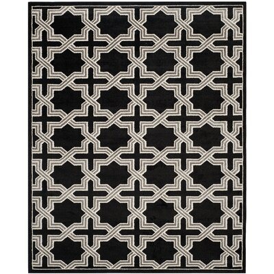 Maritza Anthracite/Grey Area Rug Rug Size: Rectangle 9 x 12