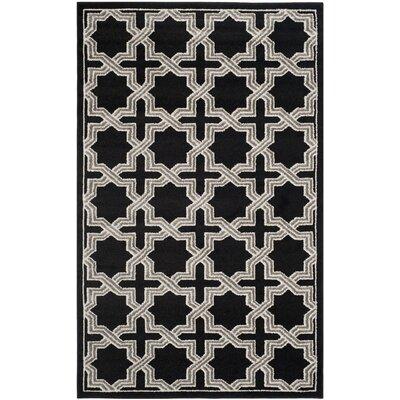 Maritza Anthracite/Grey Area Rug Rug Size: Rectangle 5 x 8