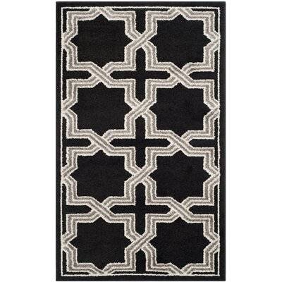 Maritza Anthracite/Grey Area Rug Rug Size: 4 x 6