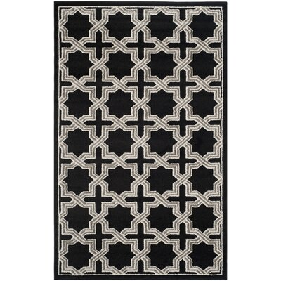 Currey Anthracite/Grey Area Rug Rug Size: 5 x 8