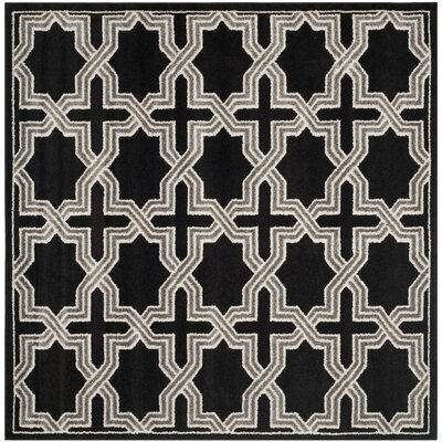Maritza Anthracite/Grey Area Rug Rug Size: Square 7