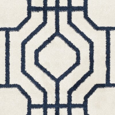 Maritza Ivory/Navy Outdoor Area Rug Rug Size: Rectangle 8 x 10