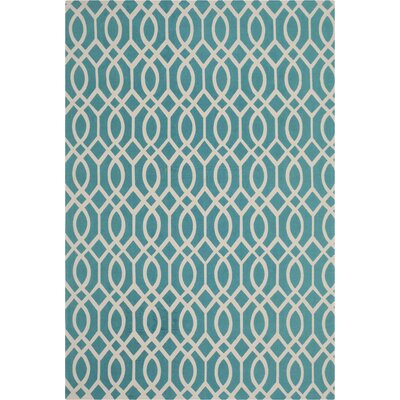 Holsworthy Light Teal / Ivory Rug Rug Size: Rectangle 73 x 93