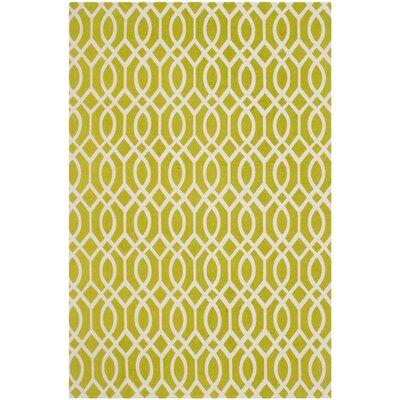 Holsworthy Lime / Ivory Rug Rug Size: 5 x 8