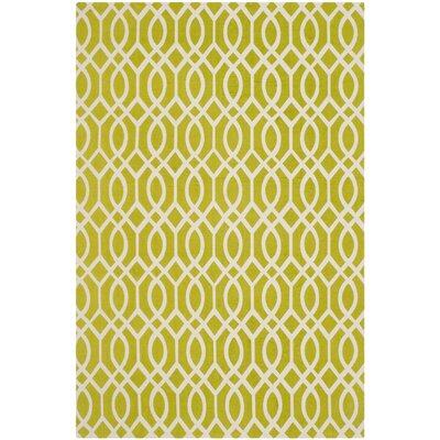 Holsworthy Lime / Ivory Rug Rug Size: Rectangle 8 x 11