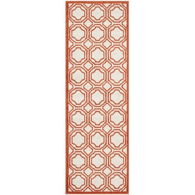 Currey Ivory/Orange Outdoor Area Rug Rug Size: Runner 23 x 7