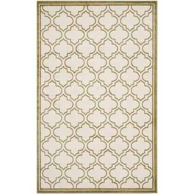 Maritza Ivory/Light Green Indoor/Outdoor Area Rug Rug Size: Rectangle 6 x 9