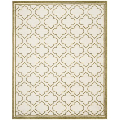 Maritza Ivory/Light Green Indoor/Outdoor Area Rug Rug Size: Rectangle 9 x 12
