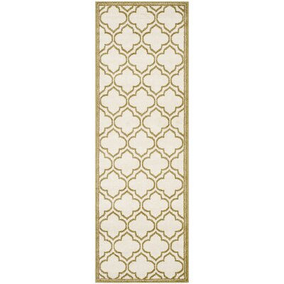 Currey Ivory/Light Green Outdoor Area Rug Rug Size: Runner 23 x 7