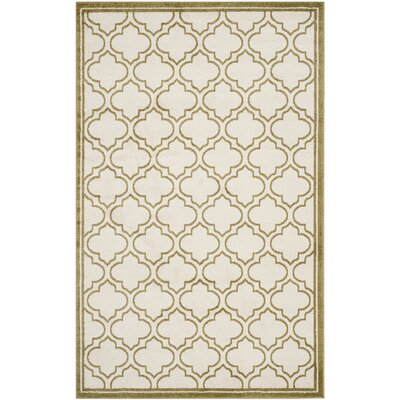 Maritza Ivory/Light Green Outdoor Area Rug Rug Size: 6 x 9