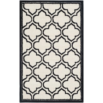 Maritza Ivory/Anthracite Outdoor Area Rug Rug Size: Rectangle 26 x 4