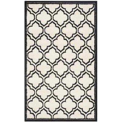 Maritza Ivory/Anthracite Outdoor Area Rug Rug Size: 4 x 6