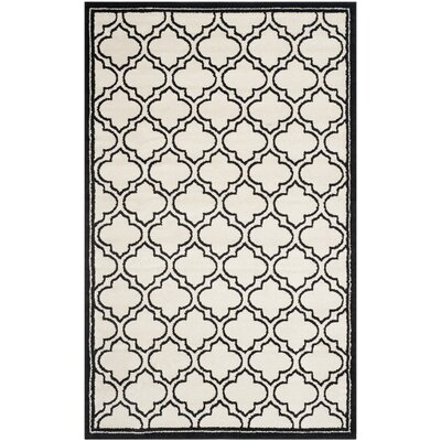 Maritza Ivory/Anthracite Outdoor Area Rug Rug Size: 5 x 8