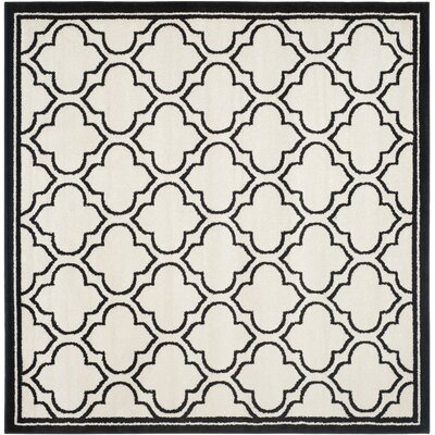 Maritza Ivory/Anthracite Outdoor Area Rug Rug Size: Square 7