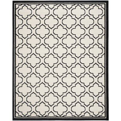 Maritza Ivory/Anthracite Outdoor Area Rug Rug Size: Rectangle 9 x 12