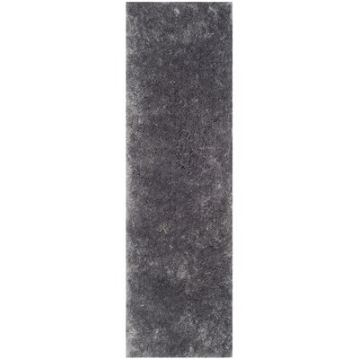Dax Shag Hand-Tufted Gray Area Rug Rug Size: Runner 2'3