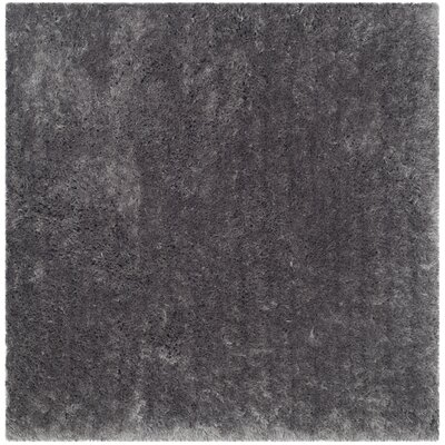 Earley Shag Grey Area Rug Rug Size: Square 5