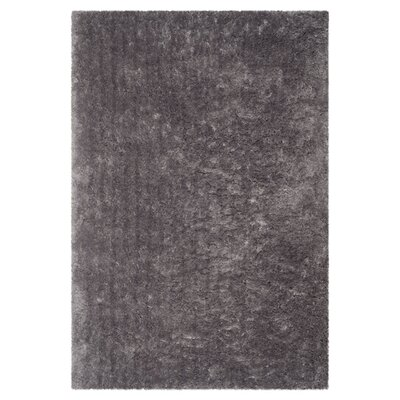 Earley Shag Grey Area Rug Rug Size: 76 x 96