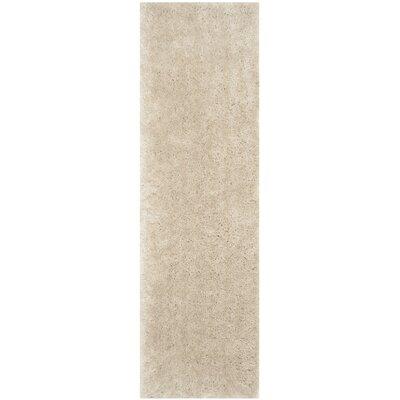 Dax Shag Hand-Tufted Beige Area Rug Rug Size: Runner 23 x 8
