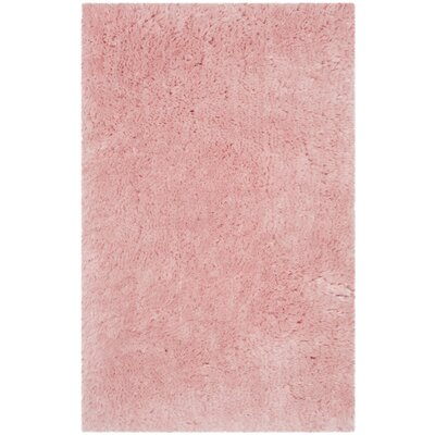 Dax Shag Hand-Tufted Pink Area Rug Rug Size: Rectangle 26 x 4