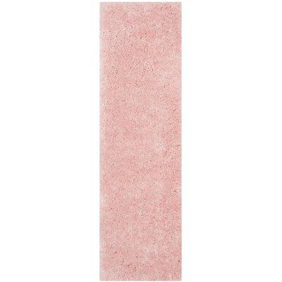Earley Shag Pink Area Rug Rug Size: Runner 23 x 8